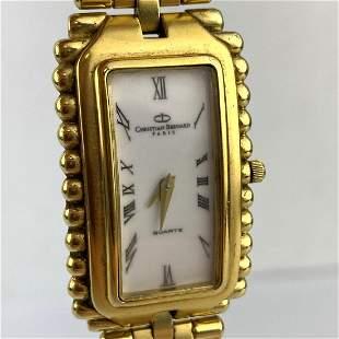 CHRISTIAN BERNARD 18K gold electroplate Wrist Watch. Br