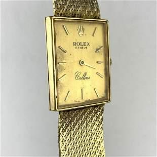 "ROLEX ""Cellini"" 18K Gold Wrist Watch. Case is 18K. Band"
