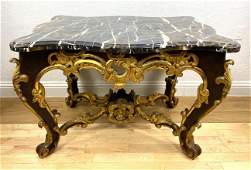 Fine French Empire Center Hall Table. Carved wood fram