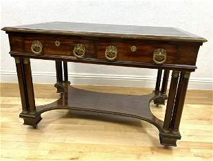 Antique Empire Style Leather Top Desk. Highly decorativ