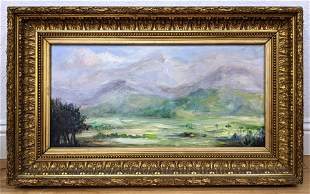 LOPEZ RAMOS signed Painting on Canvas. ÔFinal de la Zaf