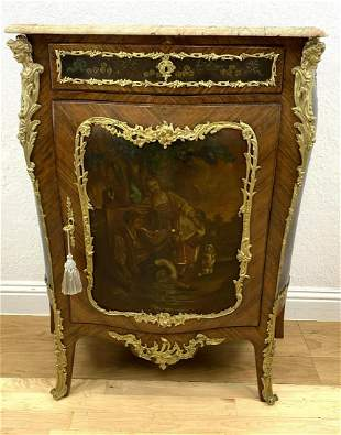 French Louis XV Style Commode Cabinet with 1 Door. ormo