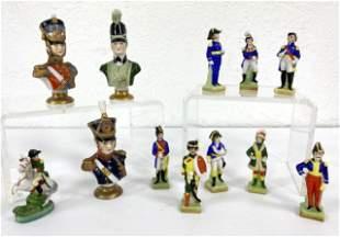 12pcs Hand Painted Regimental Figurines.  Porcelain.