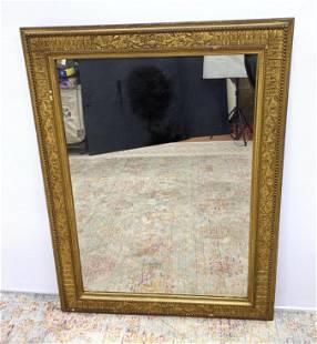 Antique Gilt Gesso Wall Mirror. Victorian era fancy Fr