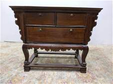 Korean Style 3 Drawer Chest Table Cabinet. Overhang top