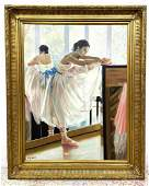 GUY LEON Oil Painting on Canvas of Dancer.