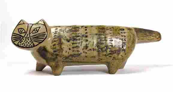 LISA LARSON for GUSTAVSBERG Pottery Cat Sculpture