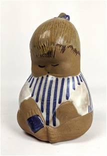 LISA LARSON for GUSTAVSBERG Pottery Figure. Young Child