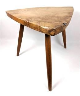 GEORGE NAKASHIMA Natural Wood Slab Side Table.