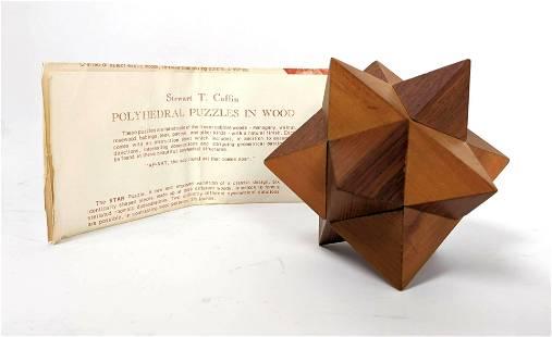 """STEWART T COFFIN Wood Puzzle Sculpture. """"Polyhedral Puz"""