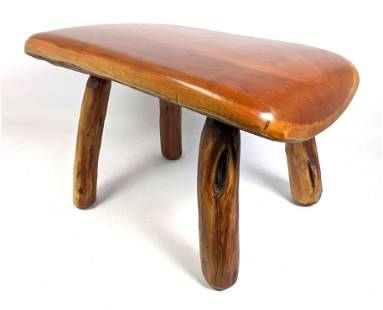 Natural Wood Stool with natural branch legs.
