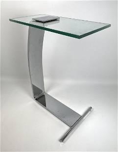DIA Design Institute of America Glass Chrome Side Table