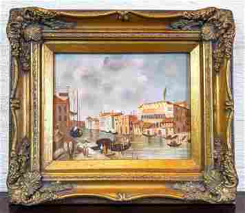 Venetian Oil Paintings on Panel. Unsigned.