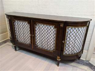 French Empire Style Sideboard Buffet with Curved Sides.