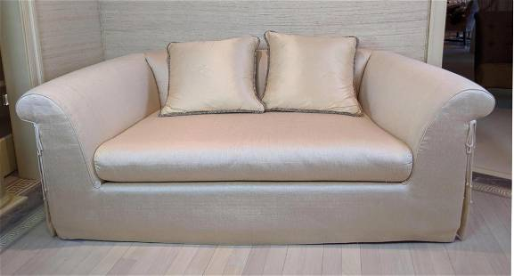 CRAFTON Furniture Silk Sofa Couch. Fully upholstered.
