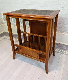 Decorative Magazine Book Side Table. Natural stained wo