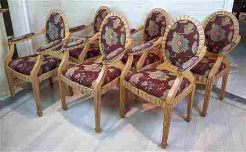 Set 6 GRAFTON Oval Back Dining Armchairs. All arm chair
