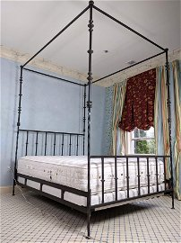 KREISS Provence Grande Queen Bed Frame Giacometti Style