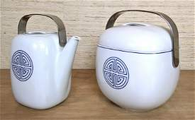 ROSENTHAL Suomi Teapot and Lidded Serving Bowl. Both wi
