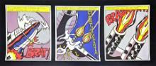 3pc Roy Lichtenstein AS I Open Fire Prints. Rockets and