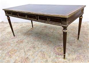 MAITLAND SMITH Leather Top Regency style Writing Desk.
