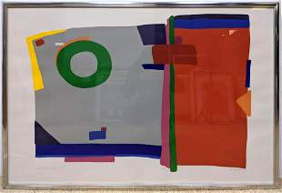 "DANIEL GELAKOSKA Signed Modernist Print. ""South Vinta W"