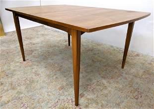 "DREXEL American Modern Walnut Dining Table. One 22""x40"""