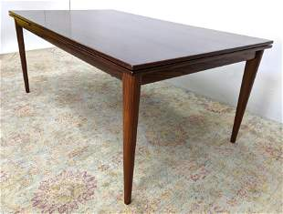 "Rosewood Dining Table. Refractory style 23"" pull out le"
