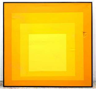 Josef Alber style yellow square in square modern this p
