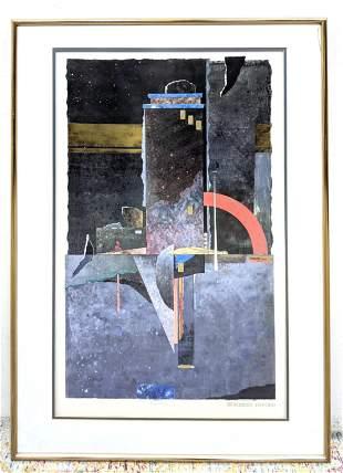 Robert OFFORD Modernist Abstract Geometric Print. Title