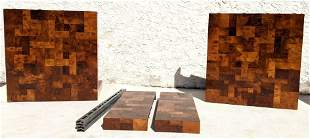 Directional Paul Evans Patchwork Dining table pieces. N
