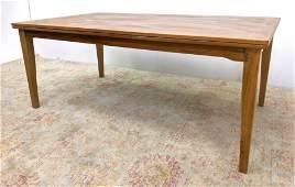 SKOVBY Danish Modern Teak Dining Table. Refractory Sty