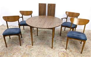 American Modern Dining Set.  Table and 4 Chairs. Lamina