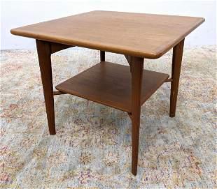 Danish Modern Teak Side Table Square top.