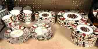 52 Pcs MIKASA - SHOGUN pattern china dinnerware set.