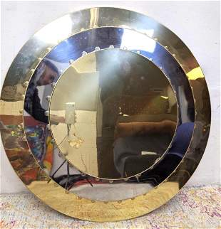 Large Round Two Tone Ceiling Fixture Concentric circle