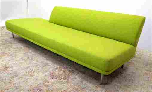 "BERNHARDT 96"" Mirador Green Modernist Sofa. Bright gree"