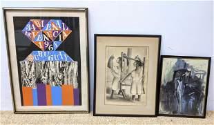 3pc Modern Art Lot. 1). 34 Bienal de Venecia 1968 Urugu