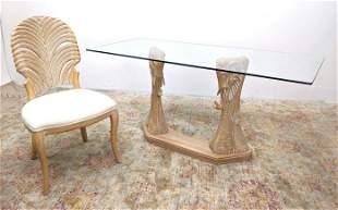 2pc LANZANI Miami Modernism Writing Desk and Chair. Car