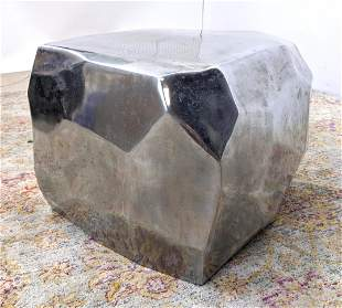 Hollow Aluminum Rock form Side Table Seat Stool. Facete
