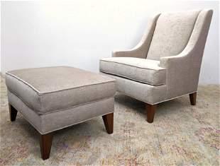 2pc ETHAN ALLEN Contemporary Lounge Chair. matching Ott