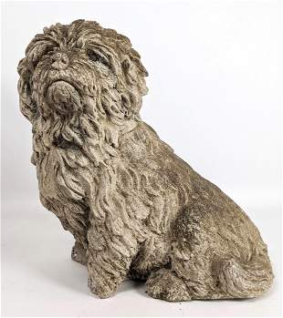 Concrete figural dog Sculpture. Outdoor Garden Patio Sh