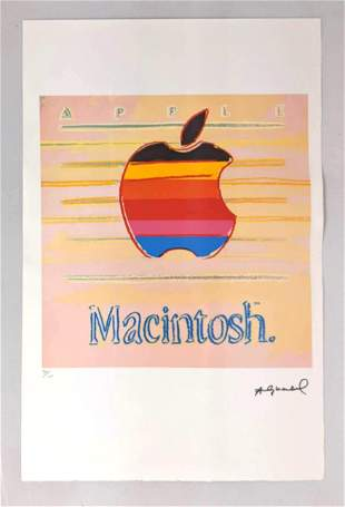 Andy Warhol Apple Macintosh numbered print. Graphic App