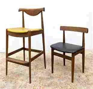 Danish Modern Teak Seating. FREM ROJLE Single Dining Ch