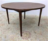American Modern Walnut Round Dining Table with One 15 i