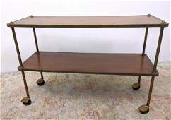OLD COLONY FURNITURE Two tier Rolling Bar Cart. Bras Tr