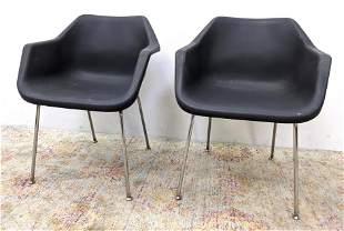 John Stuart Plastic and Chrome Chairs. FT