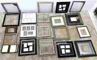 Lot 20 + picture Frames. Various sizes