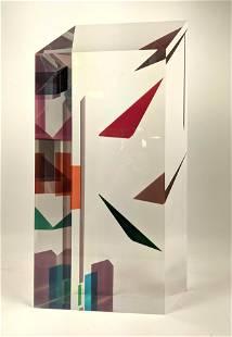 Malcolm Jones Post Modern Acrylic Lucite sculpture