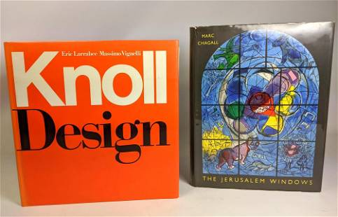 2 pc KNOLL DESIGN and MARC CHAGALL The Jerusalem Window